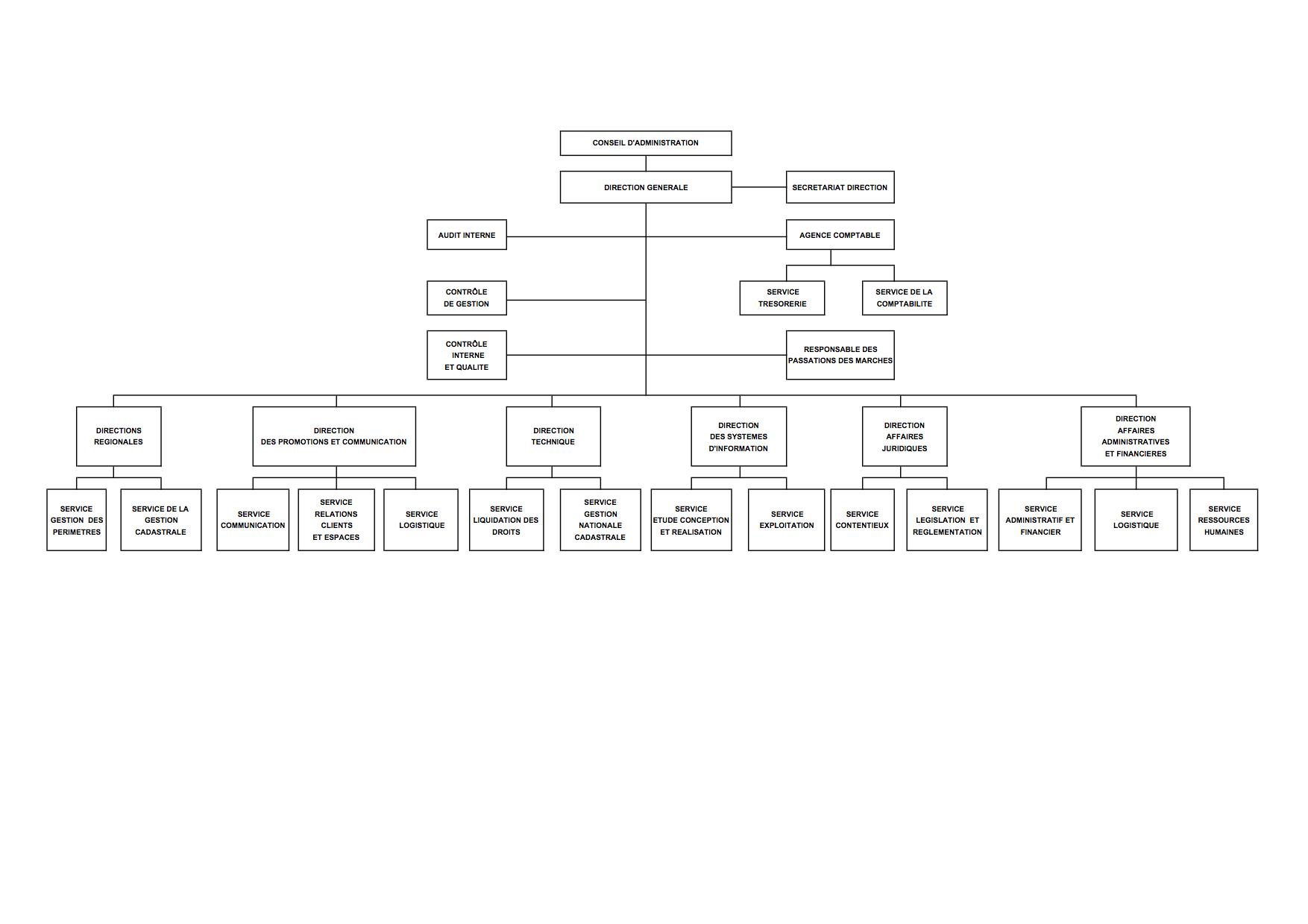 ORGANIGRAMME DU BCMM (BUREAU DU CADASTRE MINIER DE MADAGASCAR)